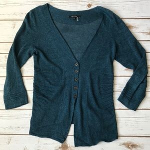 NIC+ZOE Ribbed Button-Down Cardigan
